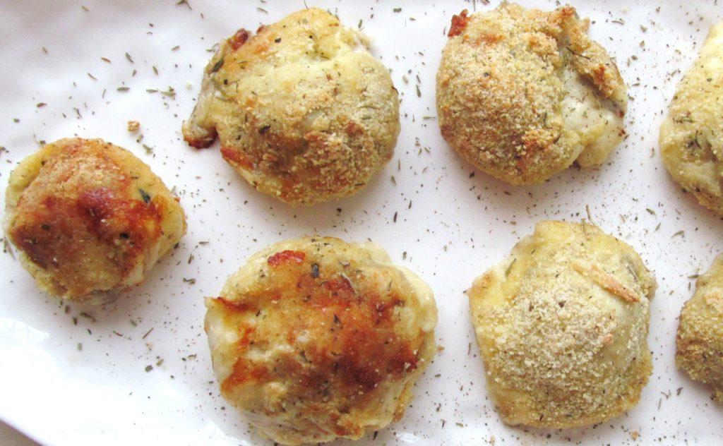 Gooey Mushroom and Mozzarella Balls |www.andthentherewasfood.co.za