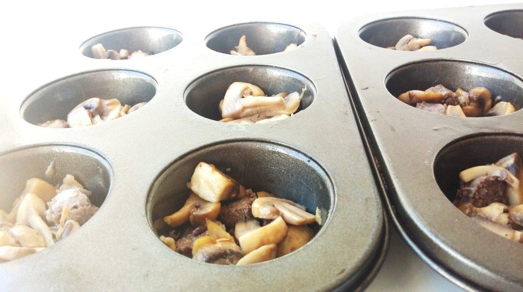 Mushroom and Sausage filling andthentherewasfood.co.za