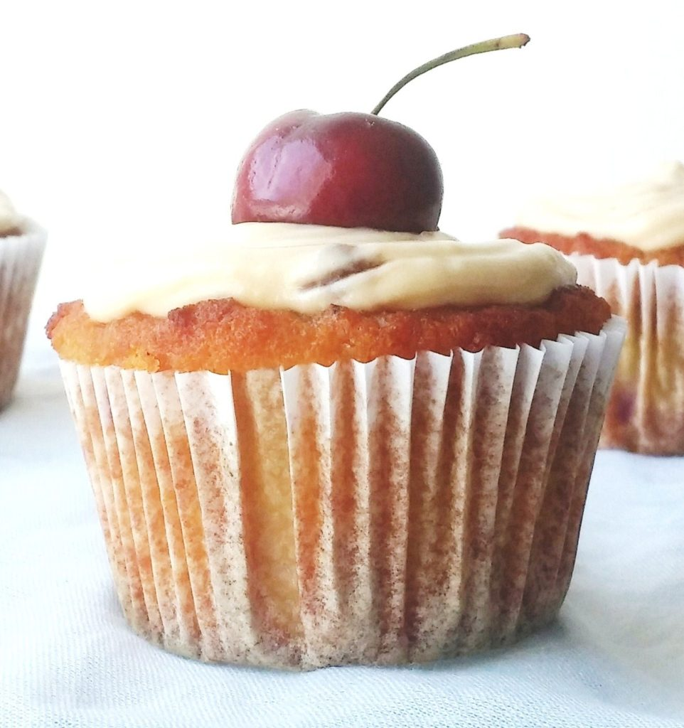 CHERRY CUPCAKES WITH CREAM CHEESE FROSTING |www.andthentherewasfood.co.za