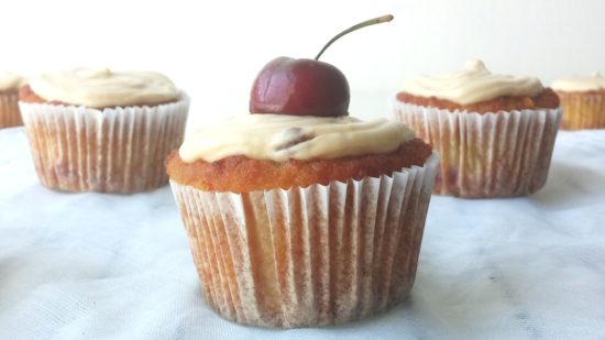 CHERRY CUPCAKES WITH CREAMCHEESE FROSTING www.andthentherewasfood.co.za