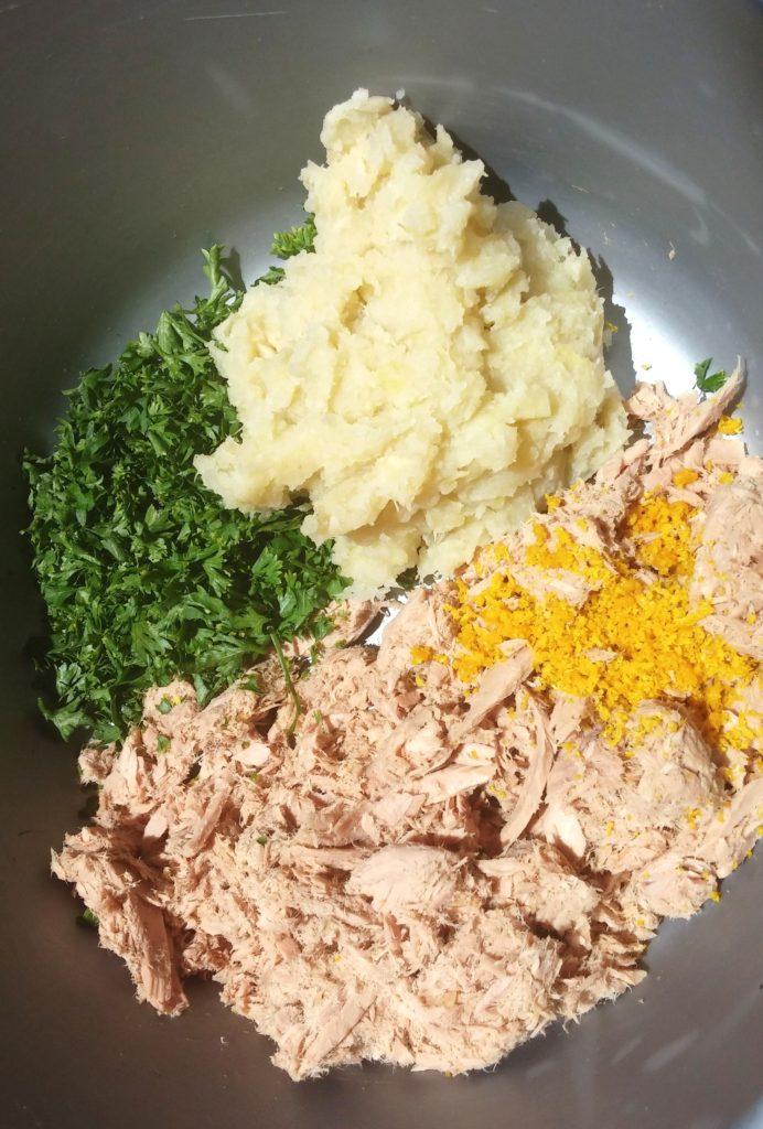 TUNA FISH CAKE INGREDIENTS|www.andthentherewasfood.co.za