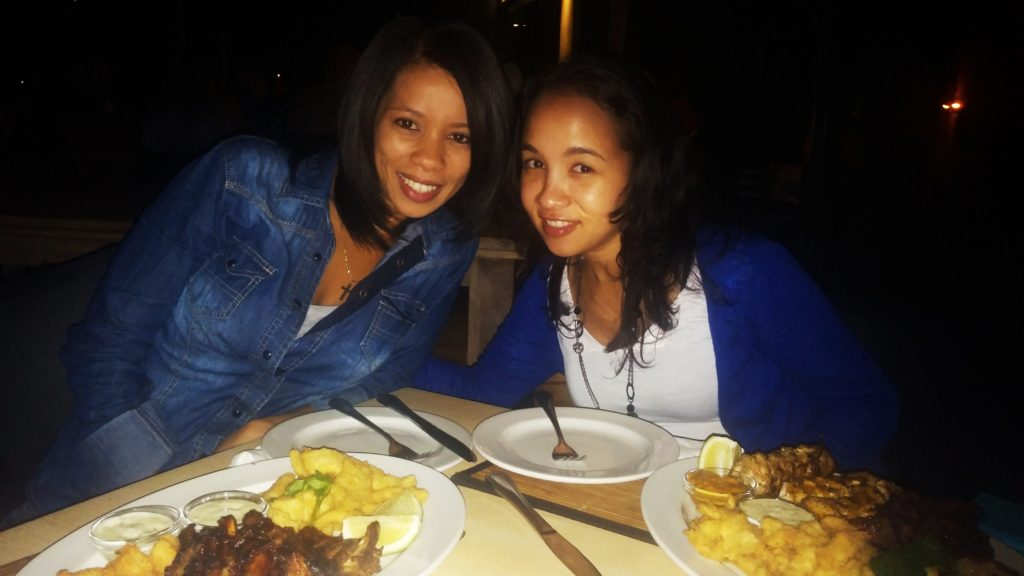 Kristen and I having real good tapas at Salina's, Wilderness|www.andthentherewasfood.co.za
