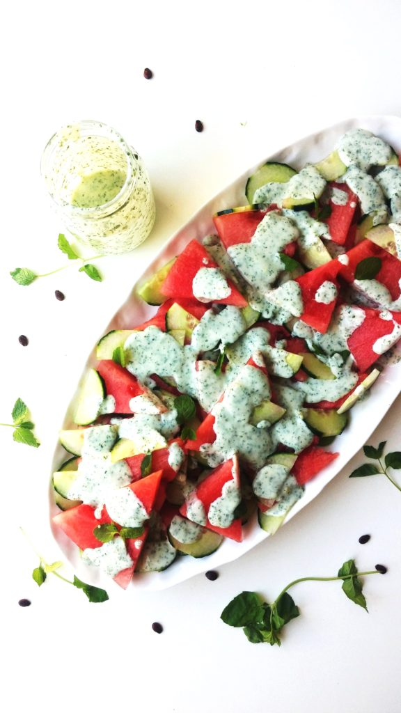 WATERMELON, CUCUMBER AND MINT SALAD|www.andthentherewasfood.co.za