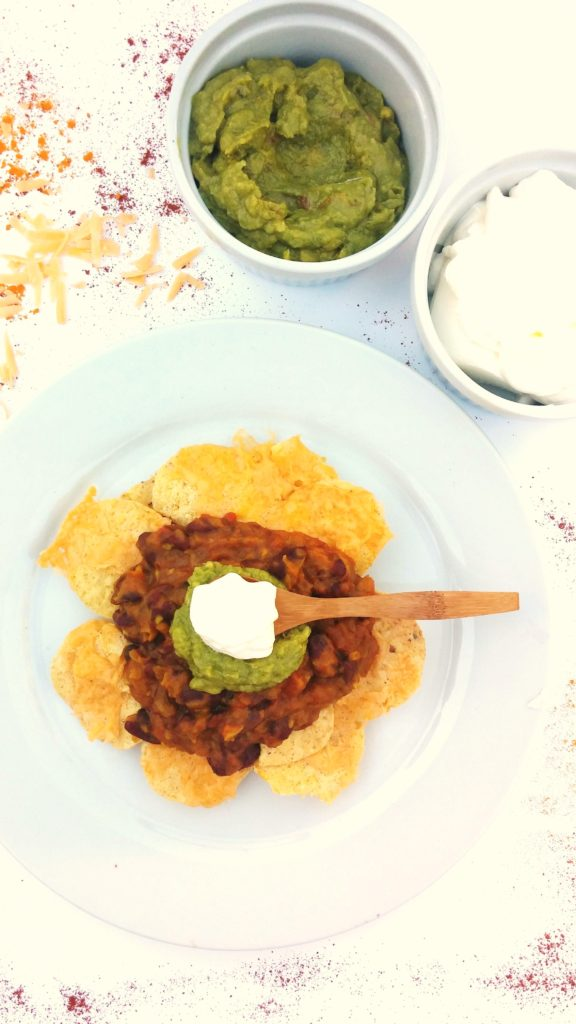 MEATLESS MEXICAN WITH FRESH GUACAMOLE AND SOUR CREAM www.andthentherewasfood.co.za