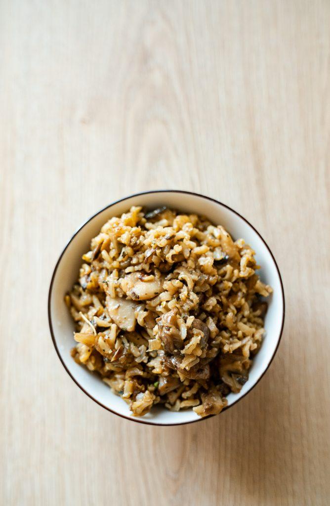 mushroom rice | https://andthentherewasfood.co.za/
